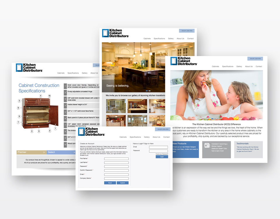 Kitchen Cabinet Distributors Custom Website Design