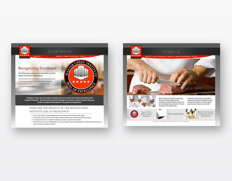 Master Chefs Institute Website Designing