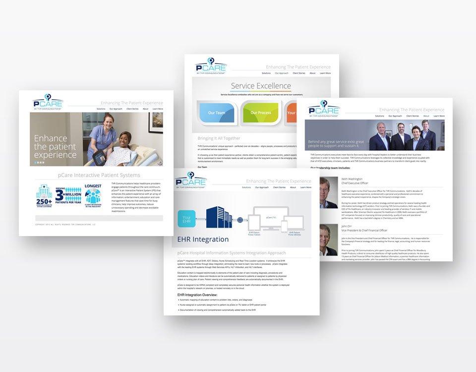 PCare Web design